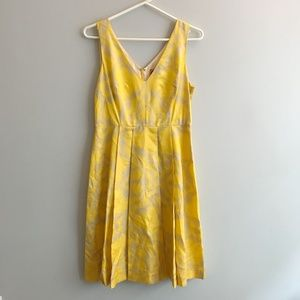 Tory Burch Yellow and Gray Edyn Dress